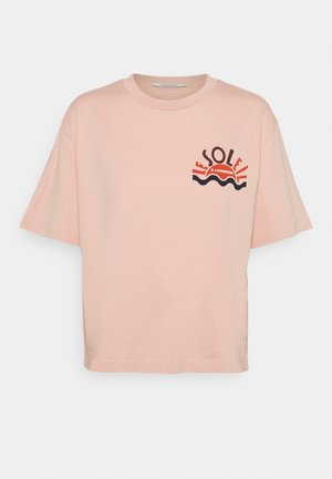 RELAXED FIT TEE WITH GRAPHIC - Print T-shirt - dusty rose