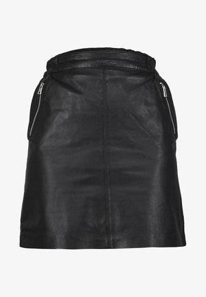 STREET - Leather skirt - black