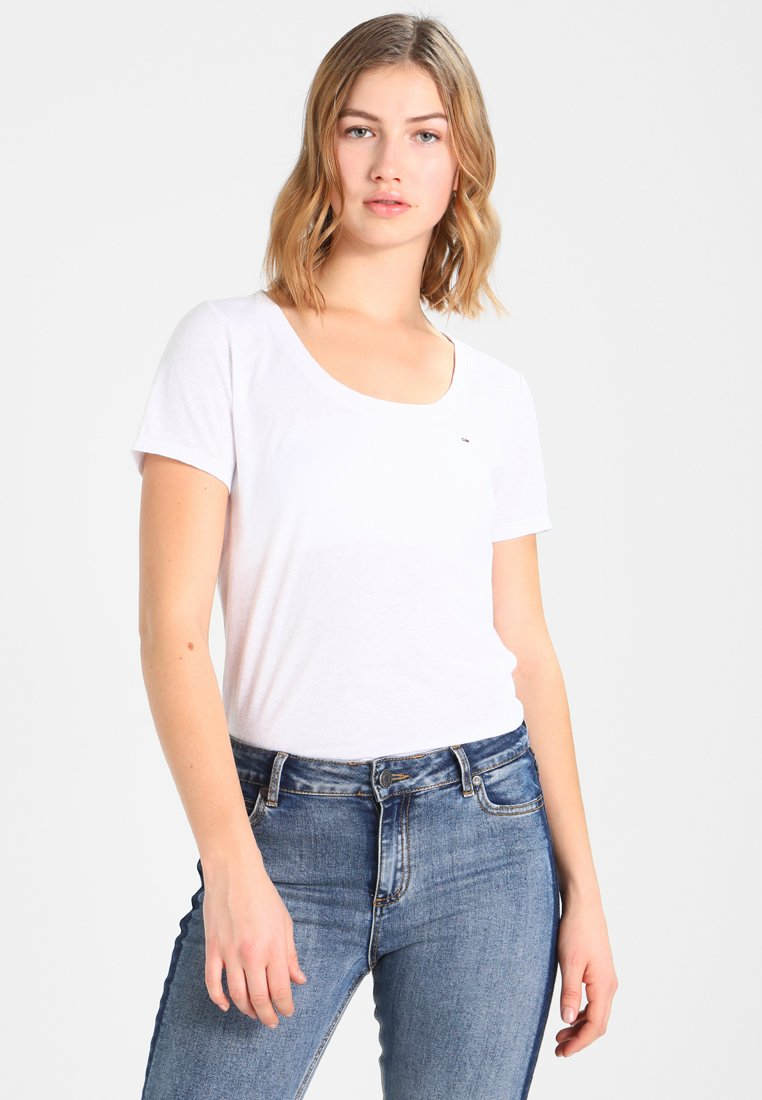 Tommy Jeans - T-shirts med print - classic white