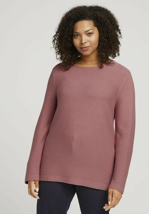 STRUCTURED - Jumper - dusty rose pink