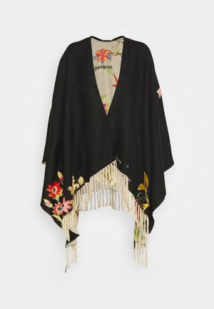 PONCHO FLOWERISH REVE - Kapper - black