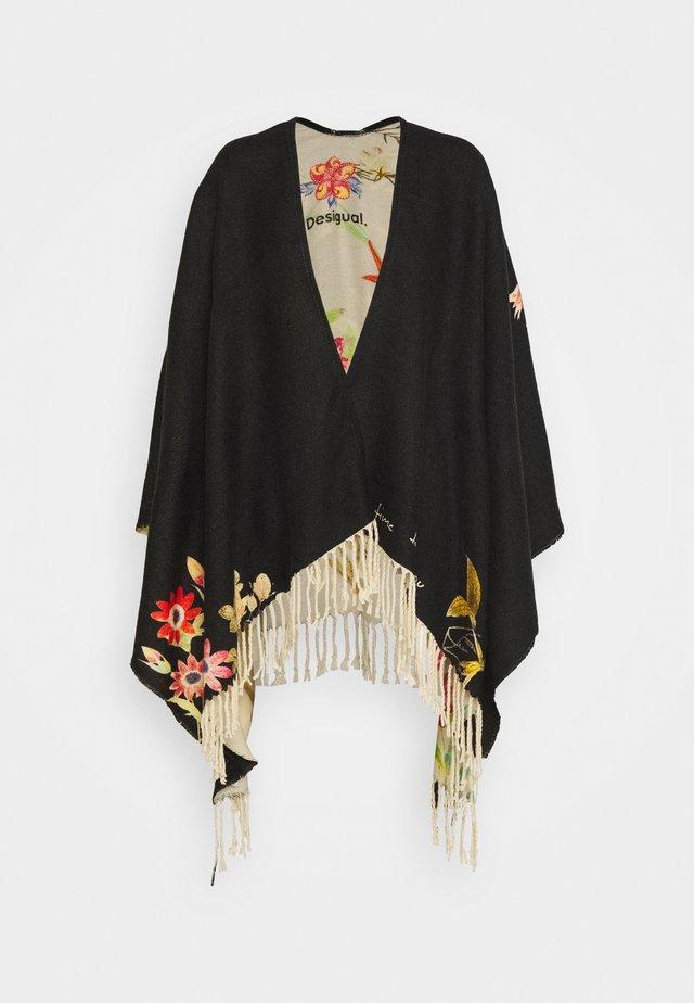 PONCHO FLOWERISH REVE - Poncho - black