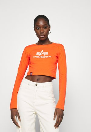 BASIC CROPPED  - Long sleeved top - atomic red