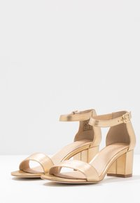 Anna Field - LEATHER HEELED SANDALS - Sandály - gold - 4