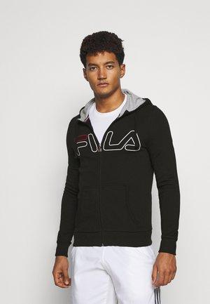 WILLI - Zip-up hoodie - black