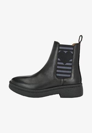 MIT STREIFEN UND  - Classic ankle boots - schwarz