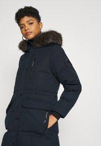 Superdry - LONGLINE FAUX FUR EVEREST COAT - Winter coat - eclipse navy - 4