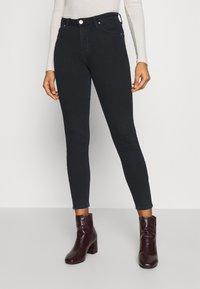 Lee - SCARLETT HIGH ZIP - Jeans Skinny Fit - dark icon - 0