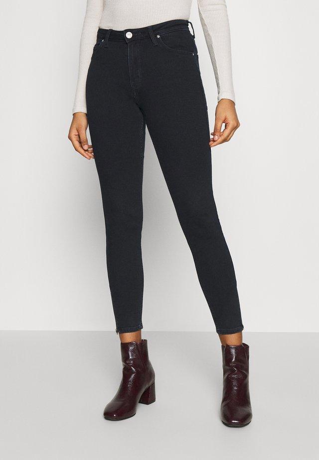 SCARLETT HIGH ZIP - Jeans Skinny Fit - dark icon