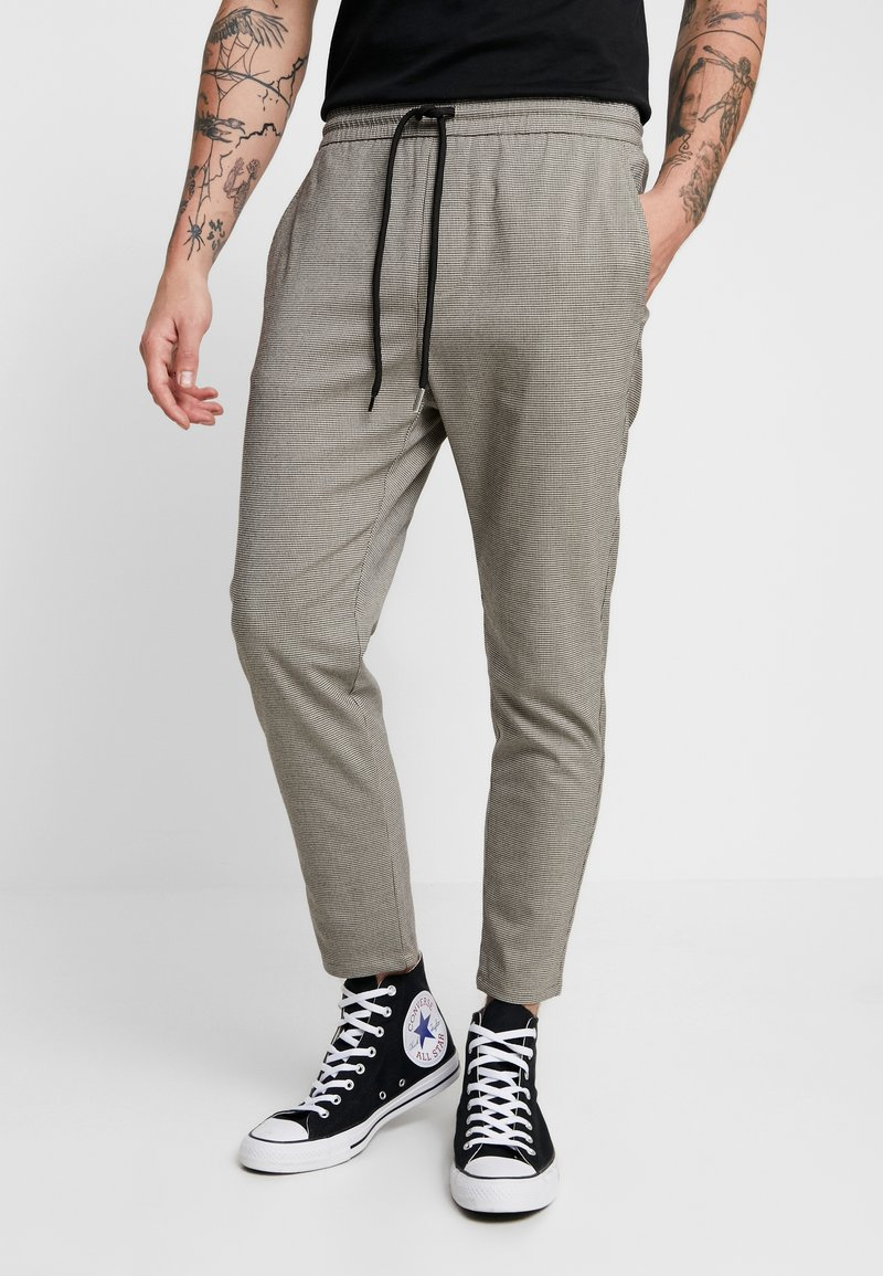 Only & Sons - ONSLINUS CHECK PANT - Trousers - chinchilla