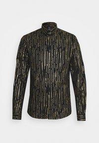 Twisted Tailor - SAGRADA SHIRT - Camicia - black/gold - 5