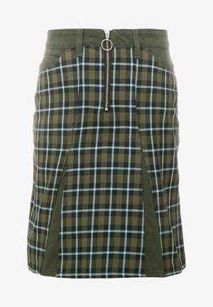BRIDGET SKIRT ARMY CHECK - Jupe trapèze - khaki