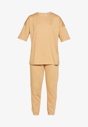 SET - Teplákové kalhoty - indian tan