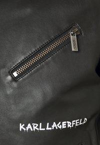 KARL LAGERFELD - BIKER JACKET - Leather jacket - black - 2