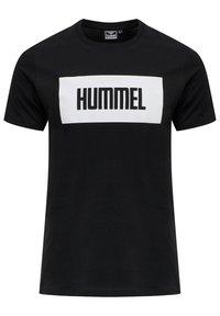 Hummel - 2-PACK - Print T-shirt - black/white - 2