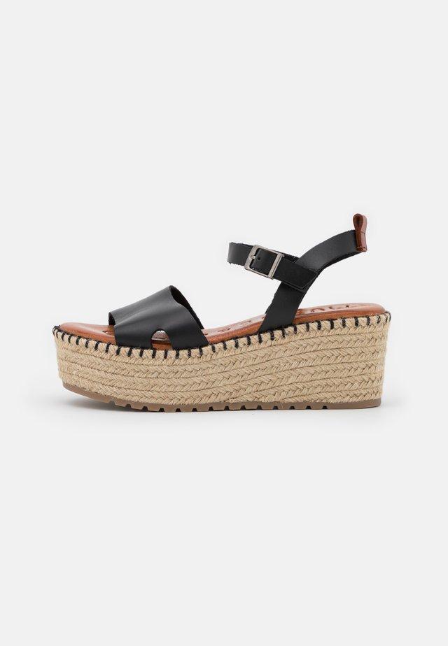 CUCA - Sandales à plateforme - black