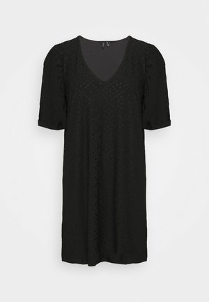VMESSENCE EMBRODIERY DRESS - Jersey dress - black