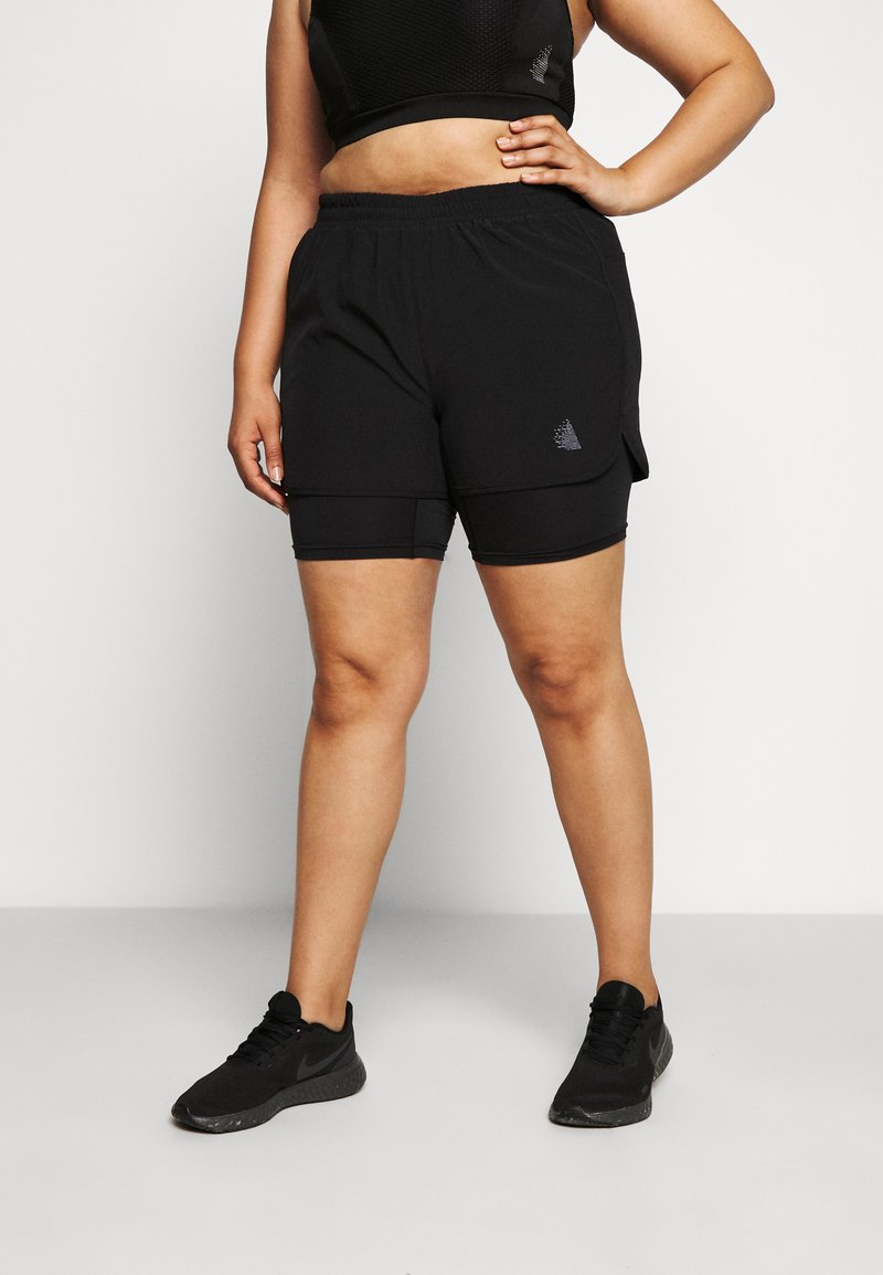 Active by Zizzi - AHAVANA SHORTS - Sports shorts - black