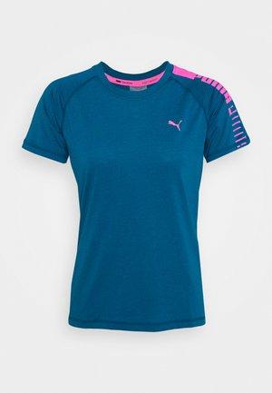 TRAIN LOGO RAGLAN TEE - T-shirt imprimé - digi blue