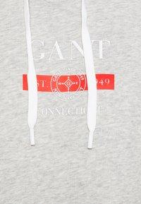 GANT - NAUTICAL HOODIE DRESS - Denní šaty - light grey melange - 2