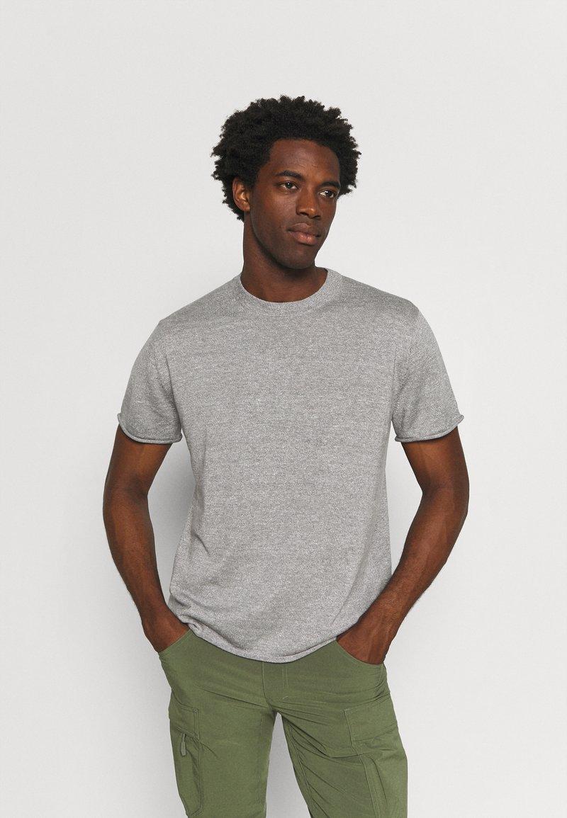 Icebreaker - FLAXEN CREWE - T-shirt imprimé - slate