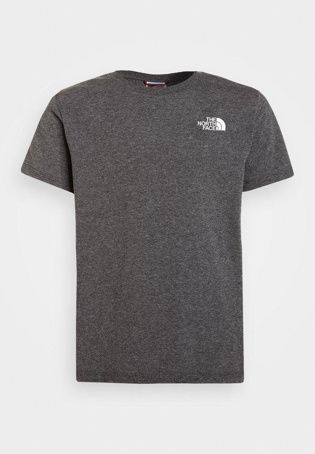 SIMPLE DOME TEE UNISEX - T-shirt print - medium grey heather