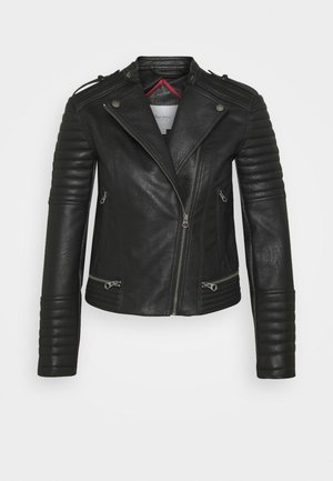 LENNA - Faux leather jacket - black
