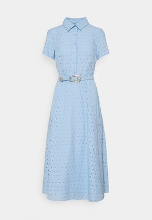 DAISY EYELET DRESS BELT - Shirt dress - light sky blue