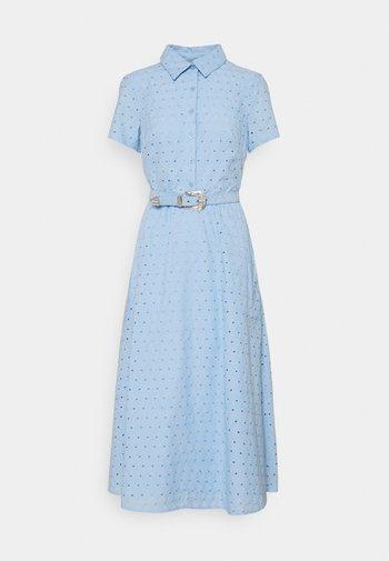 DAISY EYELET DRESS BELT - Shirt dress - light sky blue