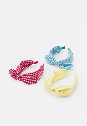 GIRL HEAD BAND3 PACK - Hair styling accessory - scarlet sage/primrose yellow/porcelain
