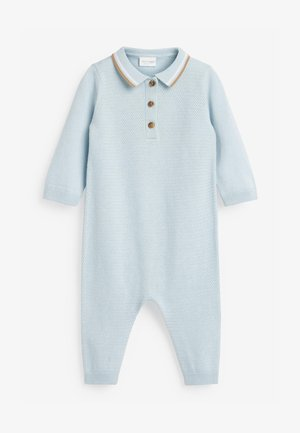 KNITTED POLO  (0MTHS-3YRS) - Body - blue