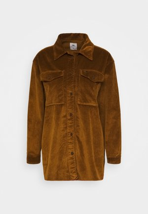 CAROL  - Button-down blouse - brandy