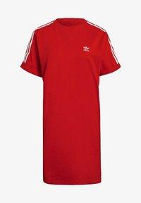 adidas Originals - TEE DRESS - Jersey dress - red - 6