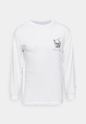 CRYSTAL SKULL TEE - Bluzka z długim rękawem - white