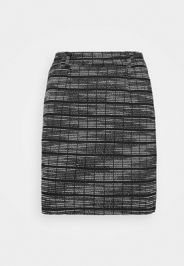Mini pencil bodycon Jacquard skirt - Mini skirt - black/white