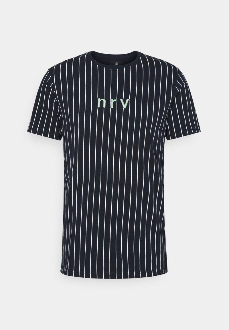 Nerve - SAMIR STRIPE TEE - Print T-shirt - navy