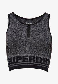 Superdry - MIT EINSATZ - T-shirt bra - mottled black - 6