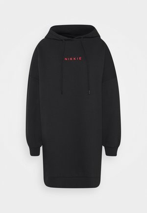 PANTHER HOODIE DRESS - Day dress - black