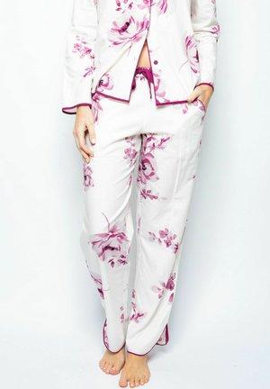 Pyjama bottoms - burgundy floral