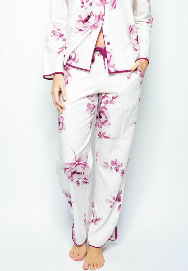 Pyjamahousut/-shortsit - burgundy floral