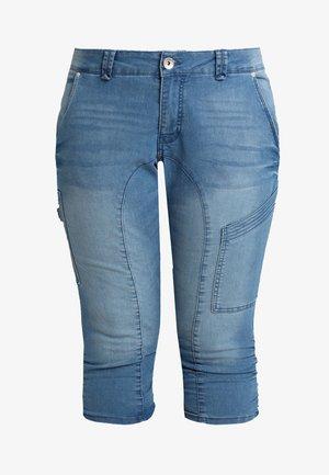 CAPRI - Denim shorts - light blue denim