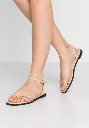 CANYON - T-bar sandals - nude