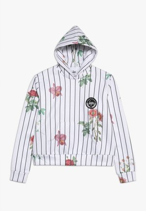 KIDS CROP HOODIE FLORAL BASEBALL - Sweat à capuche - white