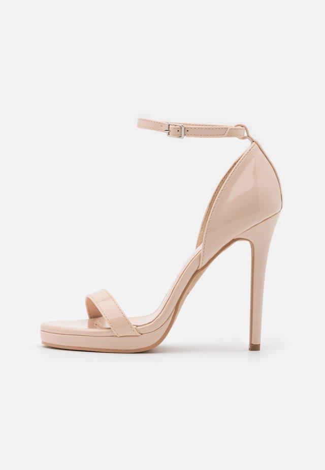 REAGAN - High heeled sandals - nude