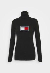 Tommy Jeans - FLAG ROLL NECK - Jumper - black - 3