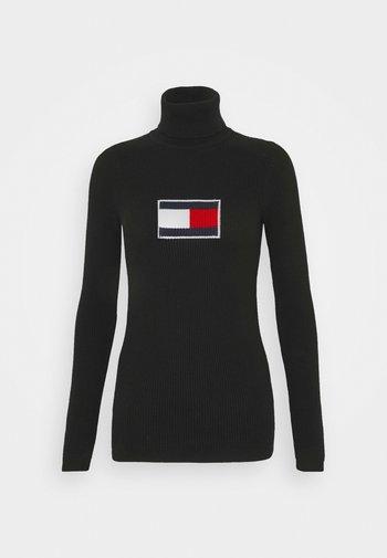 FLAG ROLL NECK - Jumper - black