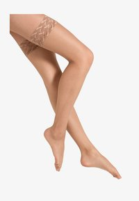 Falke - SHELINA STAY UPS - Overknee-strømper - powder - 3