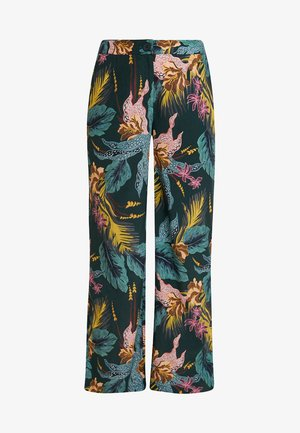 TROUSER - Trousers - tropical green/multicolor