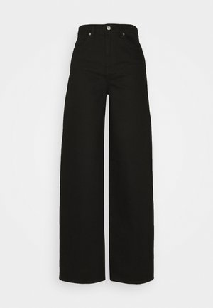 Flared jeans - black denim