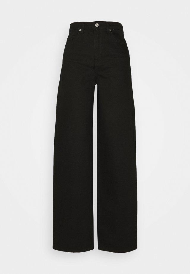 Široké džíny - black denim